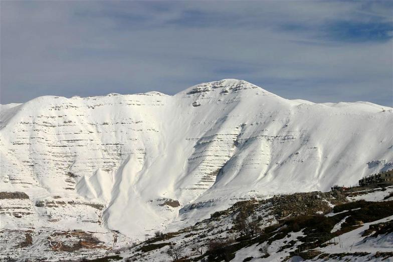 Close up of Mount Sannine, Lebanon., Laqlouq