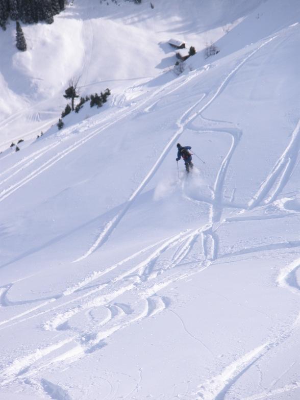 Sepp on the nortern face of Rhinerhorn, Davos