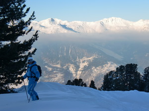 After work powder above La Tania photo