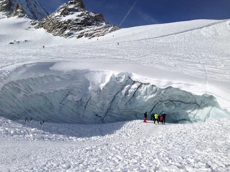 Hintertux Glacier Crevasse