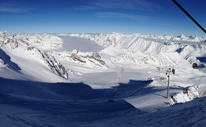 View from the top of Pitztal, Pitztal Glacier