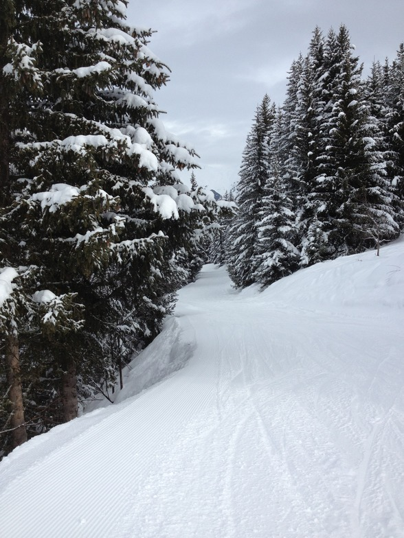 Green Run To Village, La Tania