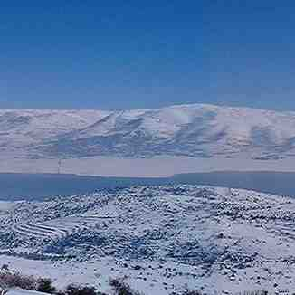 Lake in the Bekaa valley, central Lebanon., Mzaar Ski Resort