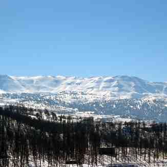Mountains in Akkar, northern Lebanon, Mzaar Ski Resort