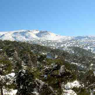 A view on he Ammouaa mountain in Akkar, northern Lebanon, Mzaar Ski Resort