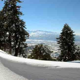 View on the mountains in Akkar, northern Lebanon, Mzaar Ski Resort
