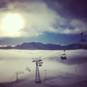 above the magical cloud ocean, Flims Laax Falera photo