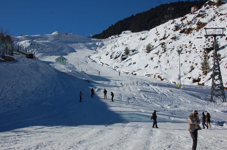 slalom slope, Auli