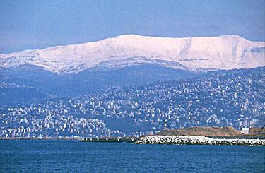 Mount sannine from beirut, Mzaar Ski Resort
