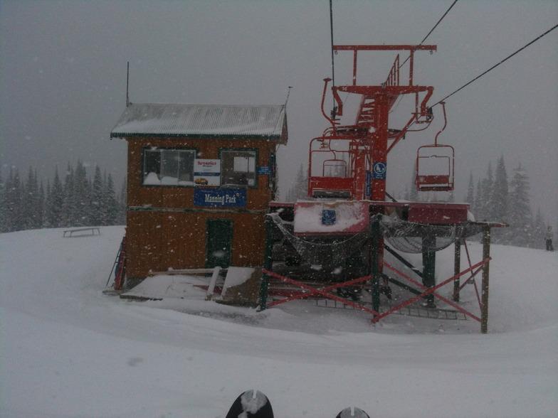 Powder day Orange Chair, Manning Park Resort