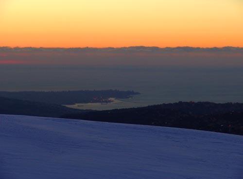 Faqra sunset,lebanon, Mzaar Ski Resort