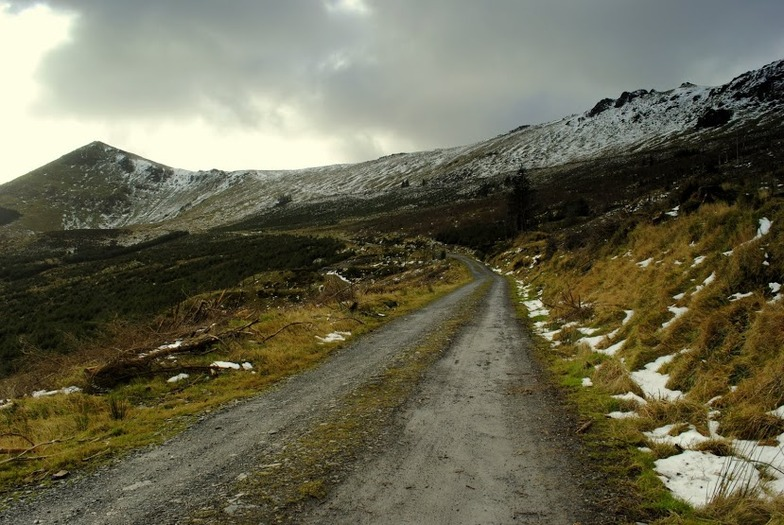Road to Lough Mohra,Knockanaffrin ridge,Comeragh mountains., Knockanaffrin (Comeragh Mts)