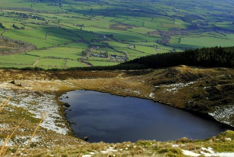 Lough Mohra,Knockanaffrin ridge,Comeragh mountains., Knockanaffrin (Comeragh Mts)