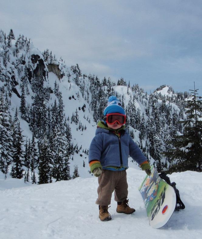 Jaden just learning the mountain, Stevens Pass