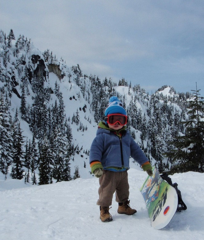 Jaden just learning the mountain, Stevens Pass