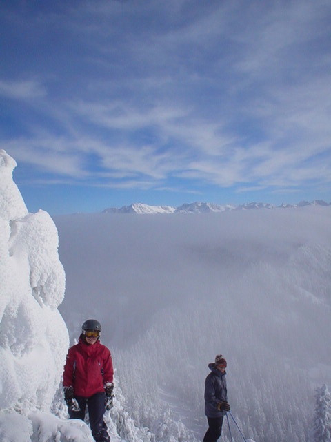 Sharlynn and Fred on Top of Seventh Heaven, Stevens Pass