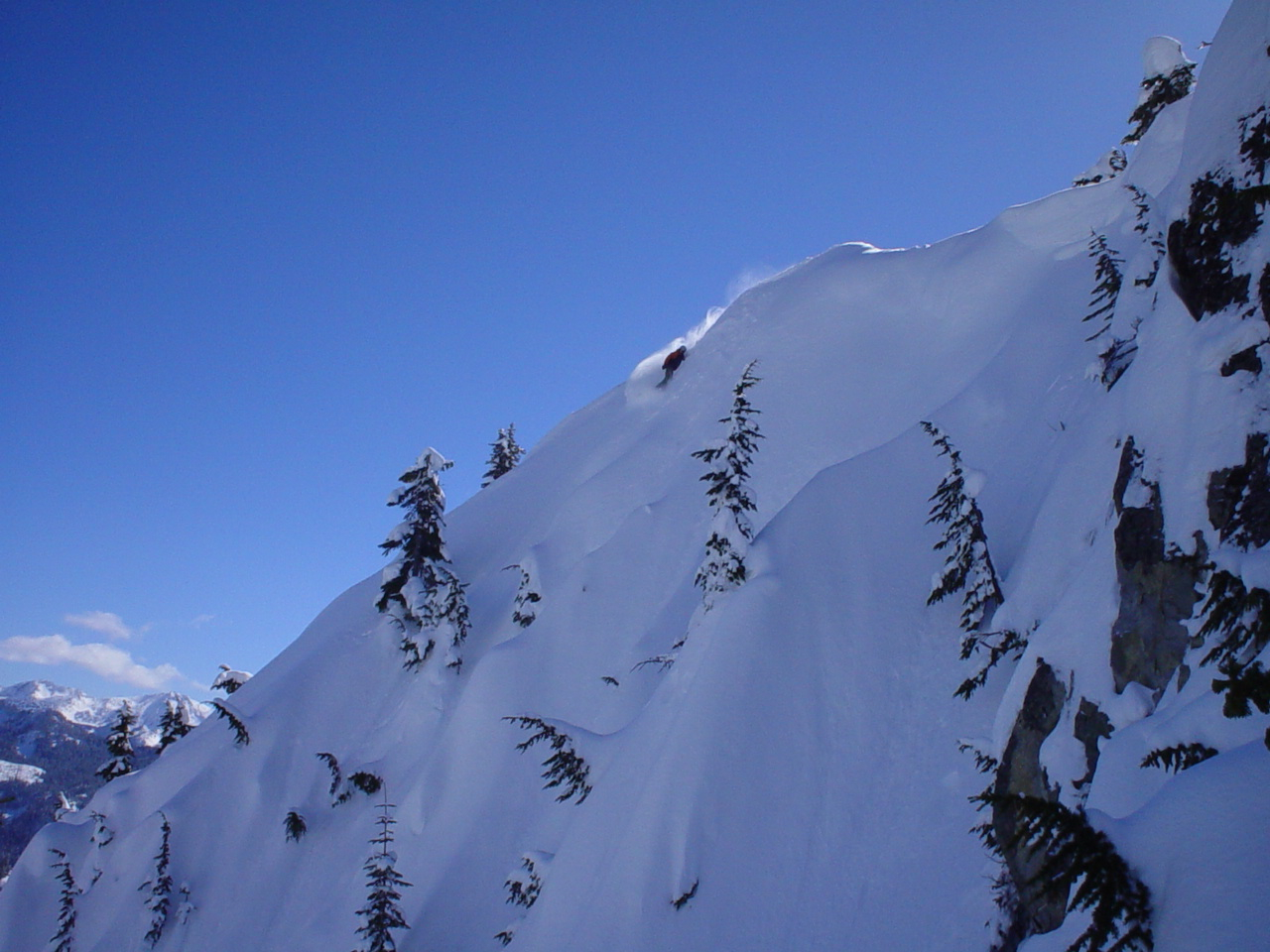 powder slash on the wall, Stevens Pass