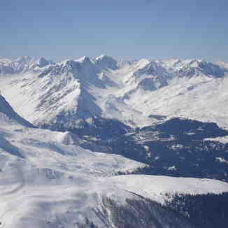 The view to Arosa from the Weissflugipfil above Davos