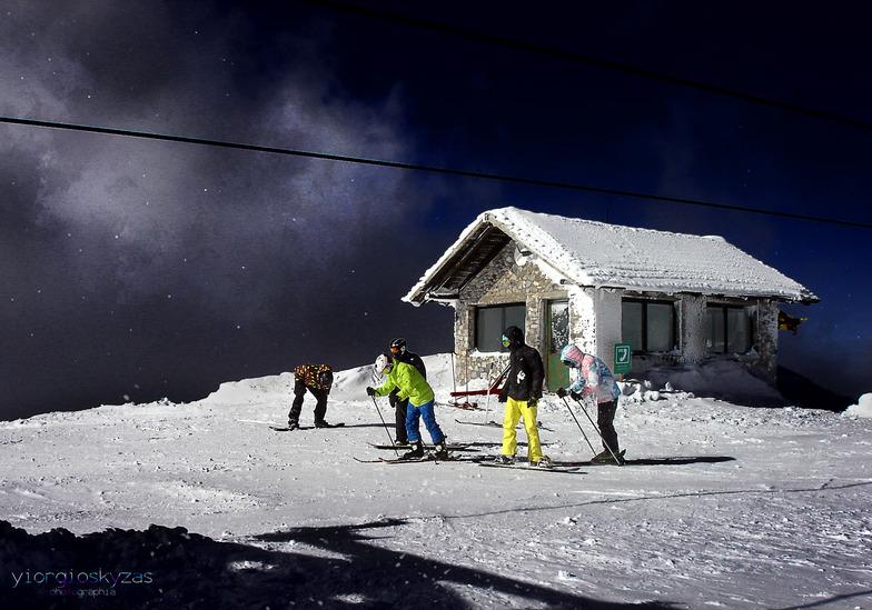 Helmos like  moon!, Kalavryta Ski Resort