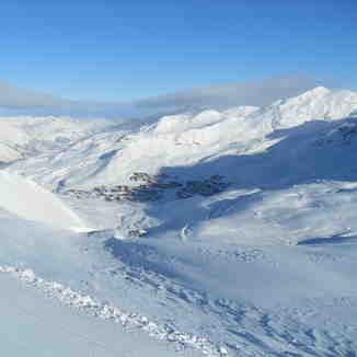 Val Thorens from Col de Rosael