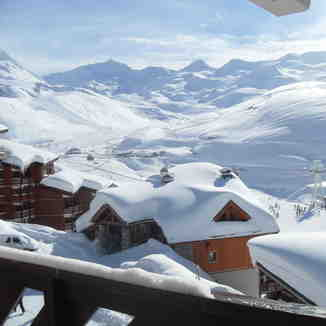 Val Thorens from Tikal apartments