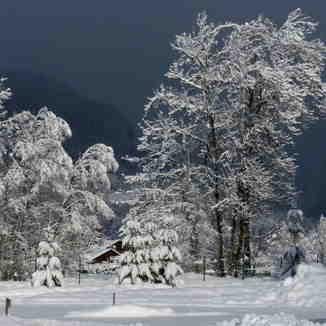 Heavy snowfall, Samoens