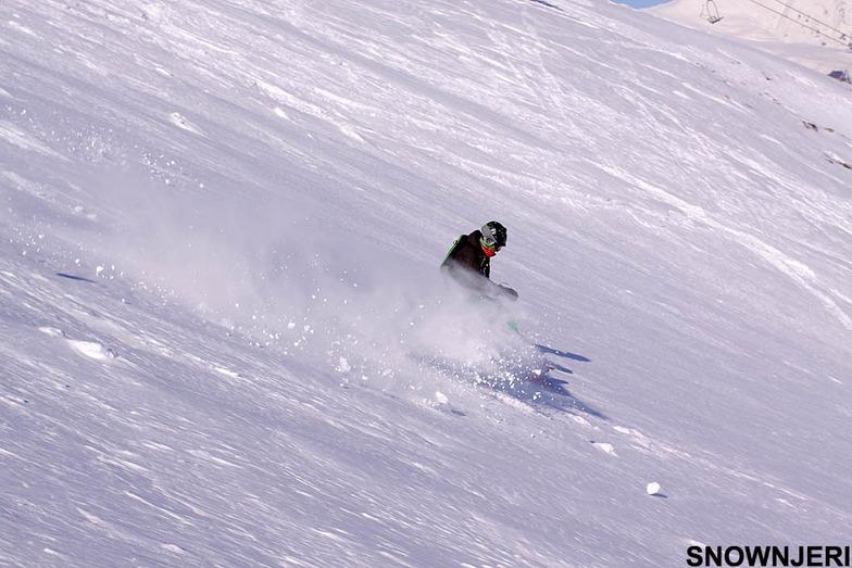 Playing with snow, Popova Shapka