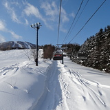 First tracks at Appi., Japan - Iwate