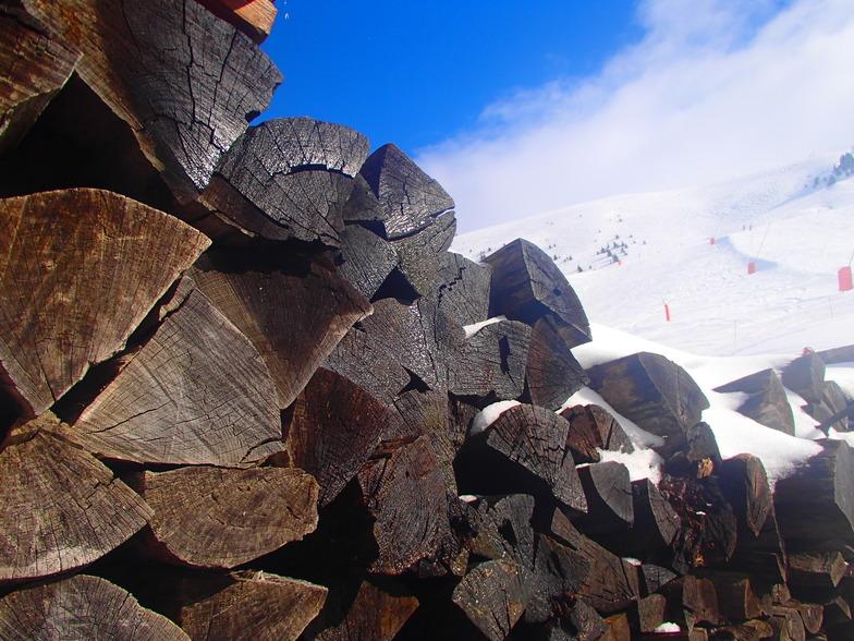 Wood Logs, Alpe d'Huez
