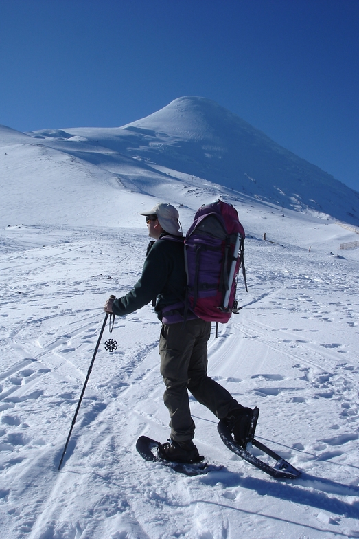 Raquetas de nieve, Volcán Osorno