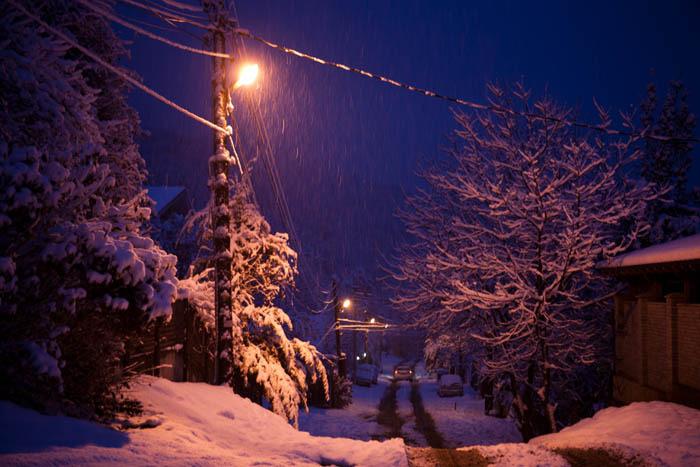 Snowfall in Krasnaya Polyana, Krasnaya Polyana (Village)