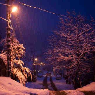 Snowfall in Krasnaya Polyana