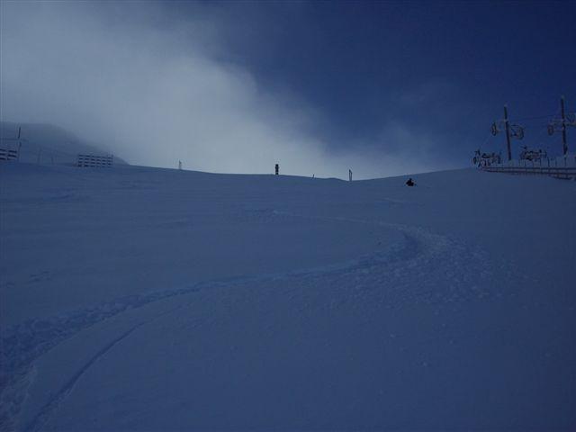 1 bajada del dia  en nieve virgen (la pinilla), La-Pinilla
