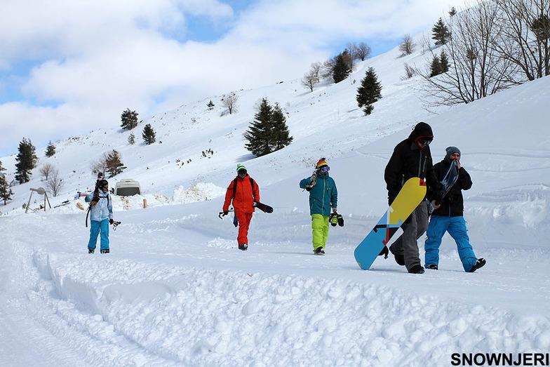 Entering Kozuf Ski Center
