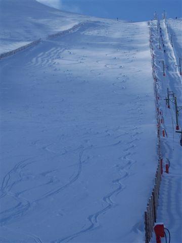 pista la pinilla I con nieve virgen, La-Pinilla