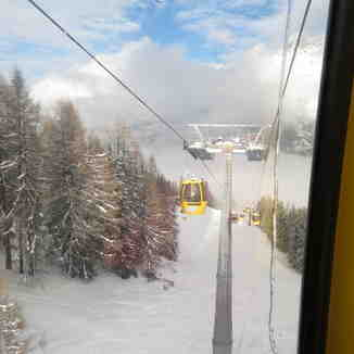 The Gondola up from San Cassiano, Corvara (Alta Badia)