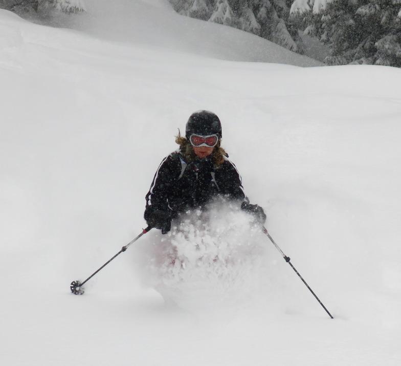 Powder snow in Villars