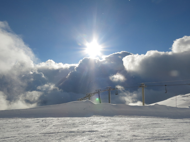 Sun, snow in Villars