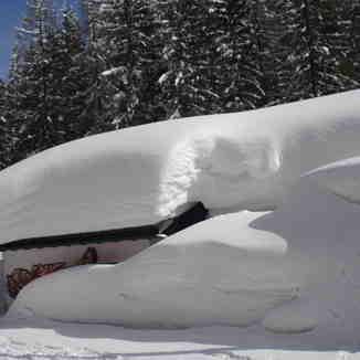 Winter in Laret near Davos