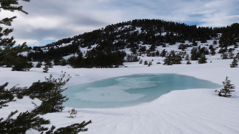 """Lac du """"Fondeur"""", Gréolières Les Neiges"""
