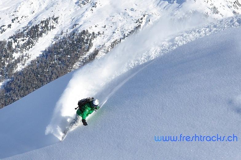 Off Piste Snowboarding Verbier