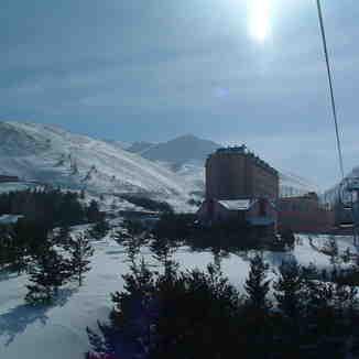 van hotel naar de berg / from hotel to mounten, Mt Palandöken