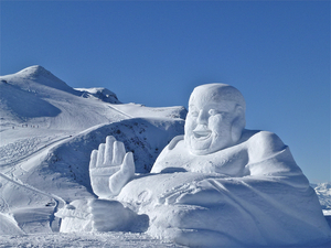 SNOW ART   in high altitude, Arosa photo