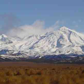 Mt Ruapehu Clearing after Southerly, Turoa