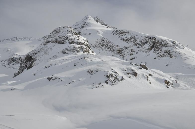 Výhled ze sjezdovky, Bonneval sur Arc