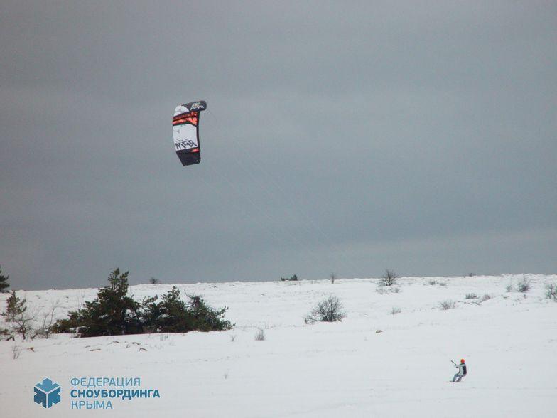Ay-Petri. Snowkiting