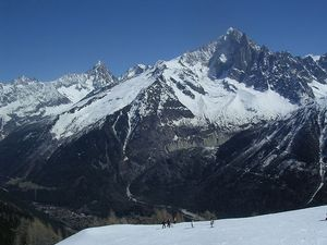 The Magnificent Grands-Montets in the Chamonix Valley photo