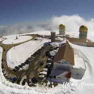 Vista aérea da Torre, Serra da Estrela