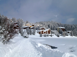 WALKING IN THE SNOW, Arosa photo