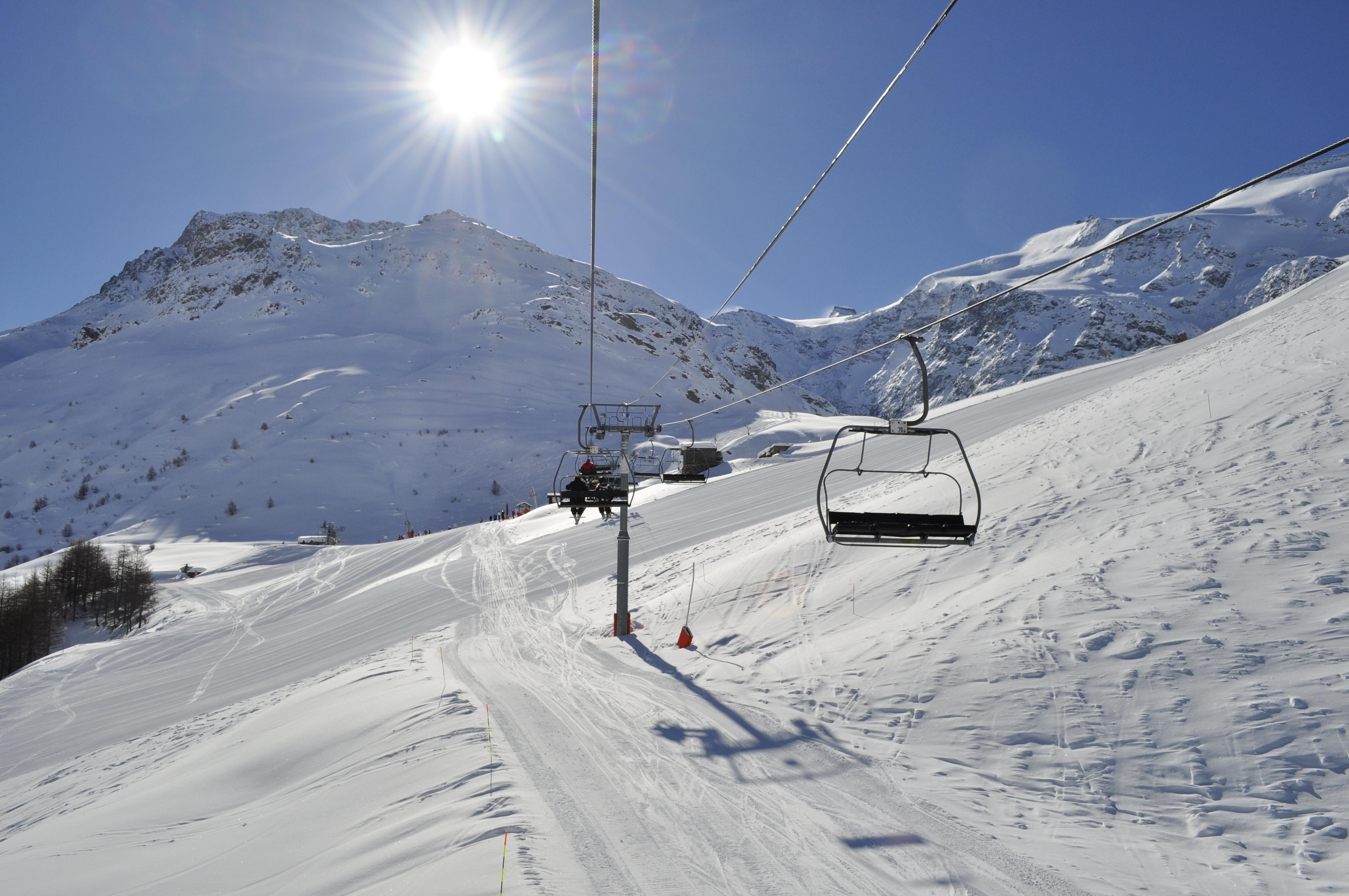 Pohled na Pic Regaud 3232 m, Bonneval sur Arc